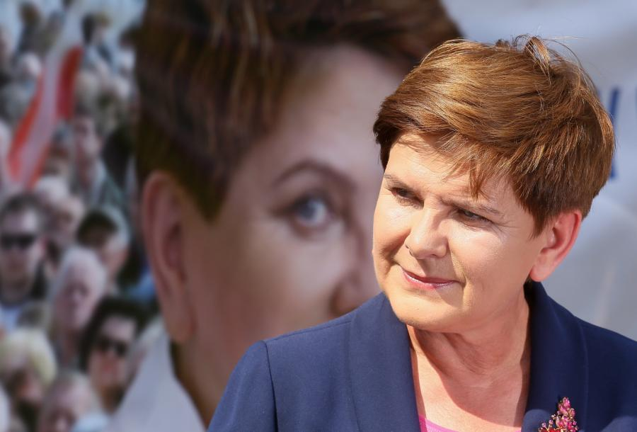Kandydatka PiS na premiera Beata Szydło podczas wystąpienia nt. \