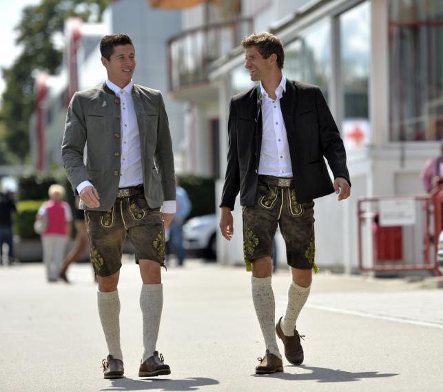 Robert Lewandowski poszedł z kolegami z Bayernu na piwo
