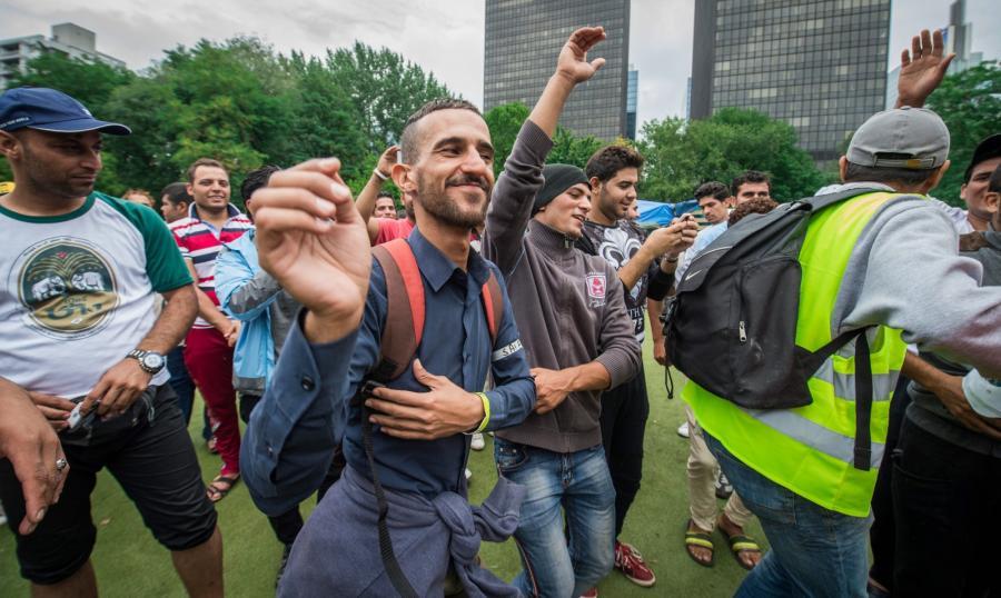Uchodźcy z Iraku w Brukseli
