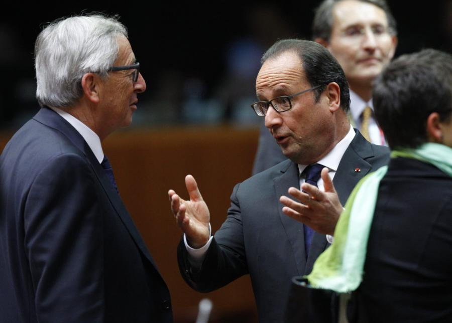 Jean-Claude Juncker, Francois Hollande