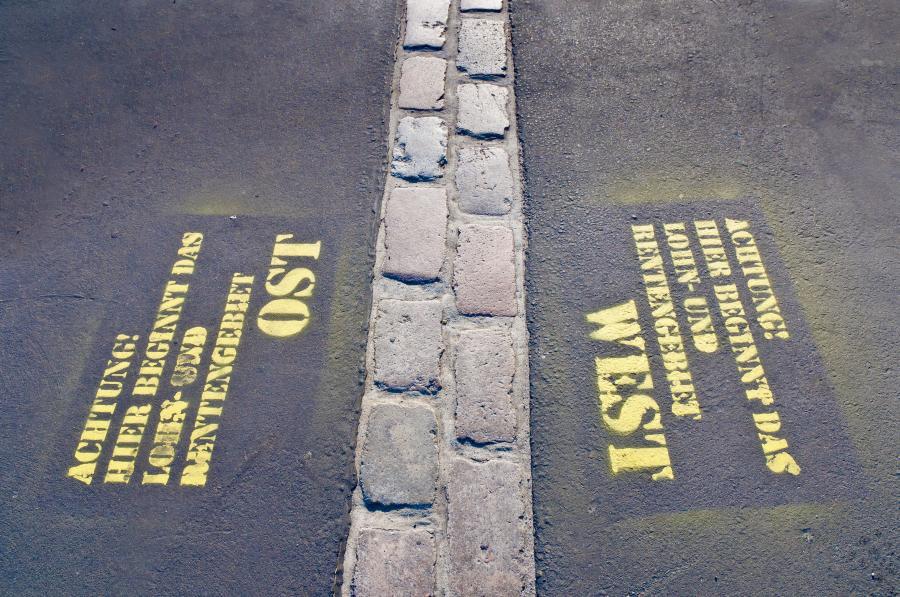 Ślad po Murze Berlińskim