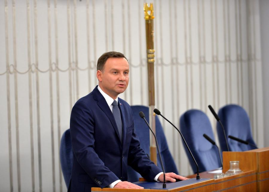 Prezydent Andrzej Duda otwiera posiedzenie inaugurujące Senat IX kadencji