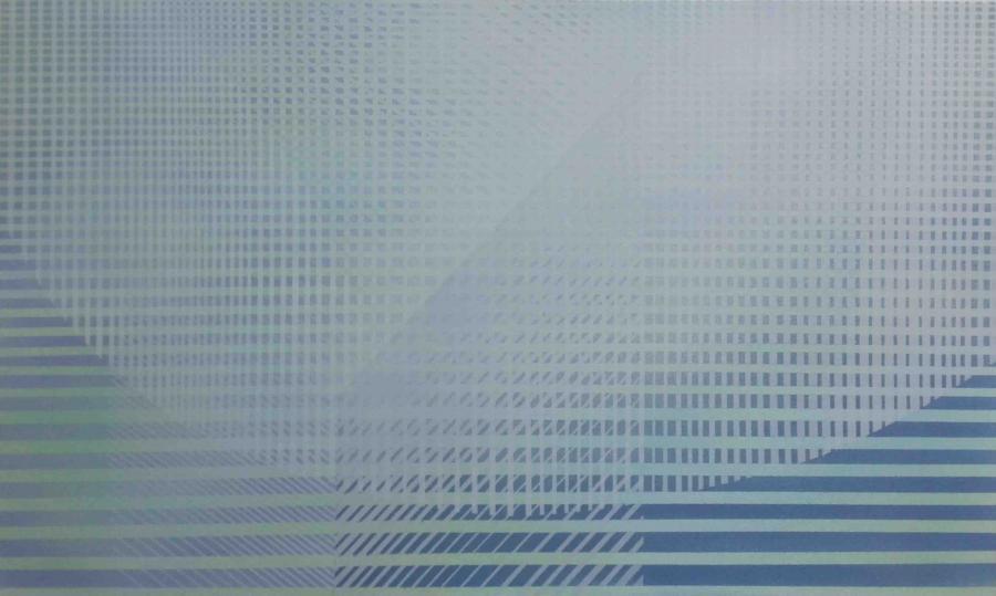 Interferencje II, akryl na płótnie, 150x90 cm