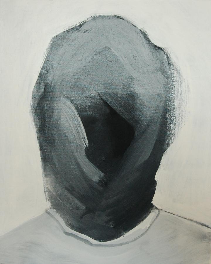 """""""Szkice do portretu 3"""", Cezary Bednarczyk, olej na płótnie, 50x40 cm"""
