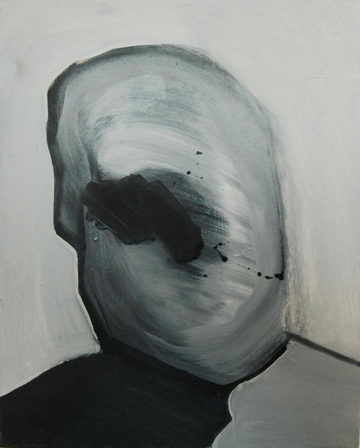 """""""Szkice do portretu 19"""", Cezary Bednarczyk, olej na płótnie, 50x40 cm"""