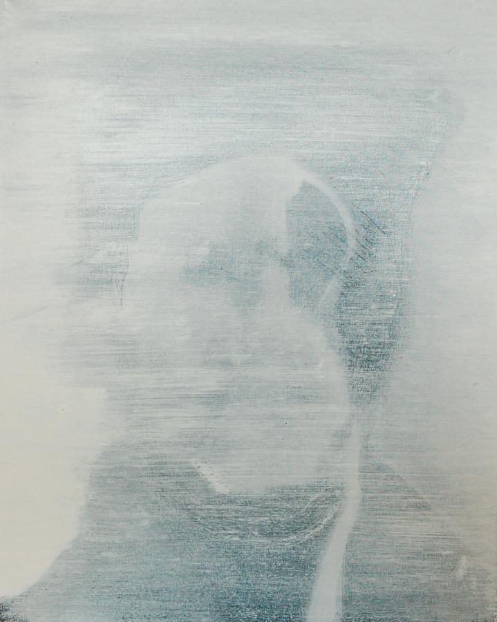 """""""Szkice do portretu 22"""", Cezary Bednarczyk, olej na płótnie, 50x40 cm"""