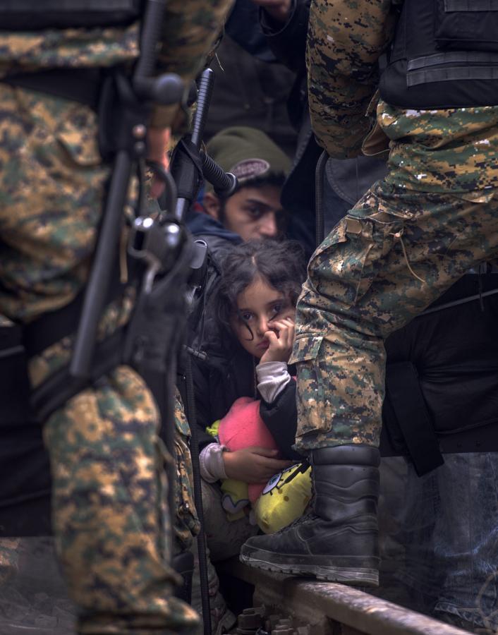 Nielegalni imigranci zablokowali granicę Grecji z Macedonią
