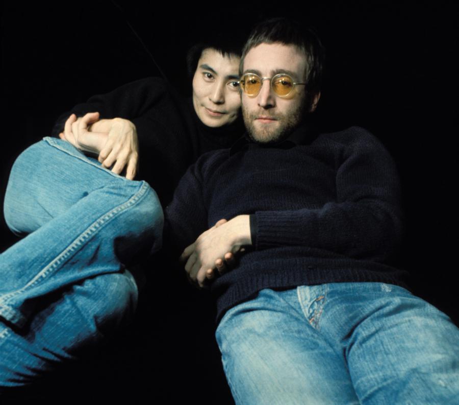 John Lennon i Yoko Ono w Londynie w 1970 roku