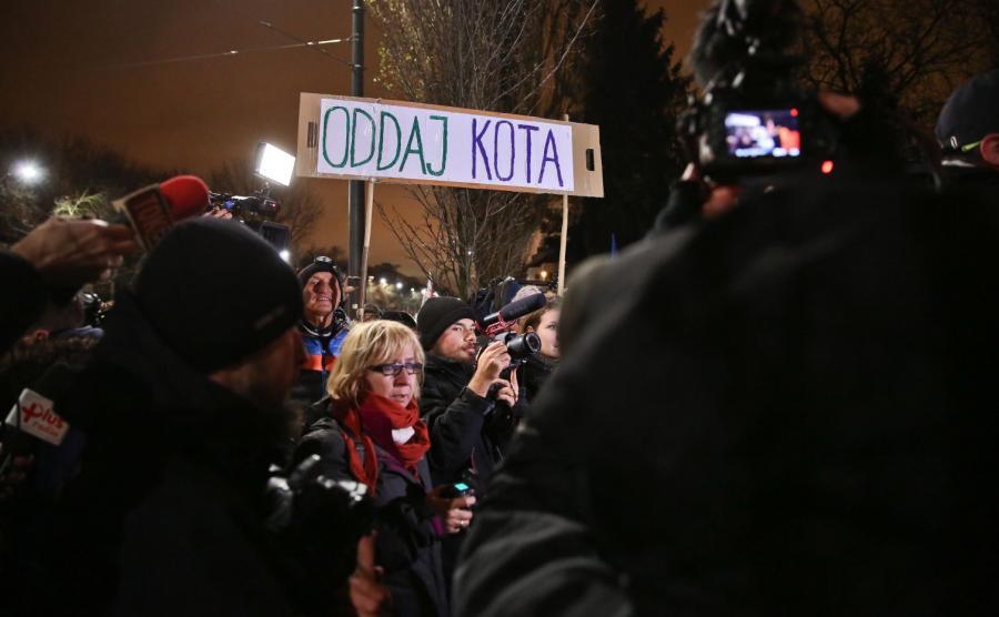 Manifestacja przed domem Jarosława Kaczyńskiego