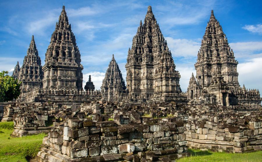Prambanan i kościół w kształcie kury