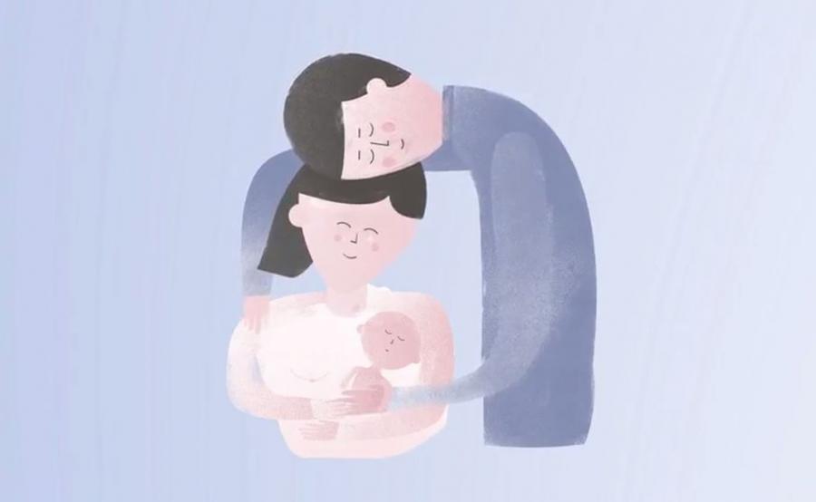 Kadr ze spotu Fundacji Rodzić po Ludzku