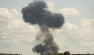 Katastrofa myśliwca na pokazie w Radomiu