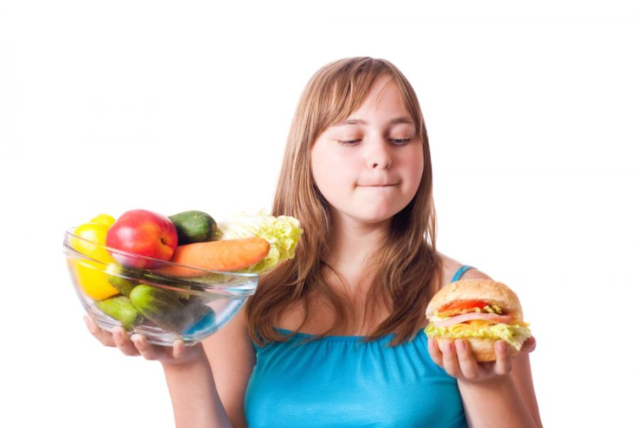 Nastolatka na diecie