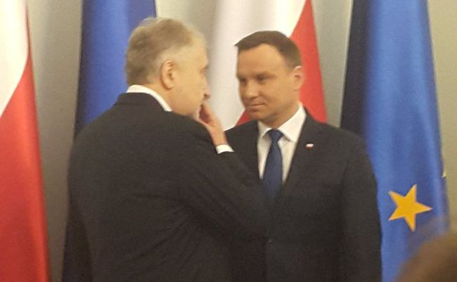Prezydent Andrzej Duda i prezes TK Andrzej Rzepliński