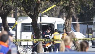 Służby medyczne na miejscu zamachu