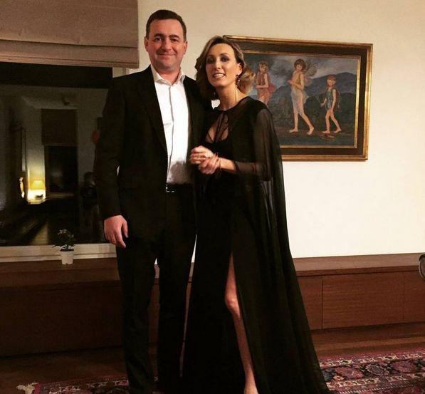 Anna Kalczyńska z mężem