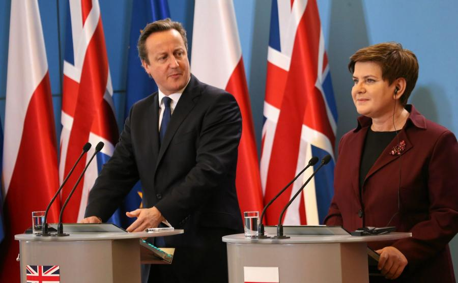 David Cameron i Beata Szydło