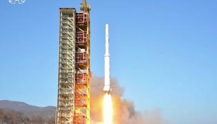 Transmisja północnokoreańskiej TV z wystrzelenia rakiety