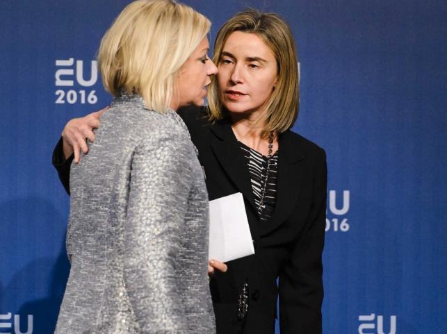 Jeanine Hennis-Plasschaert i Federica Mogherini