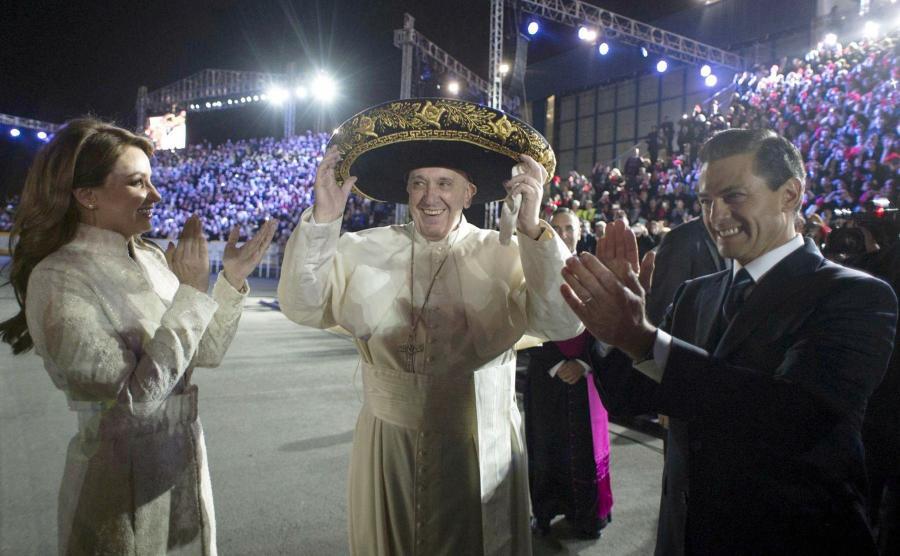 Papież Franciszek w sombrero