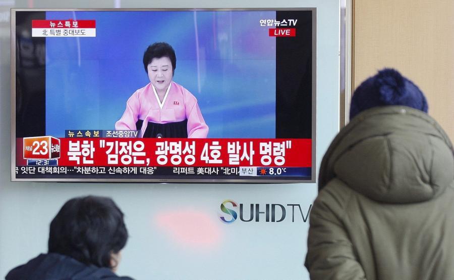 Mieszkańcy Korei Południowej oglądają program nadawany z Korei Północnej