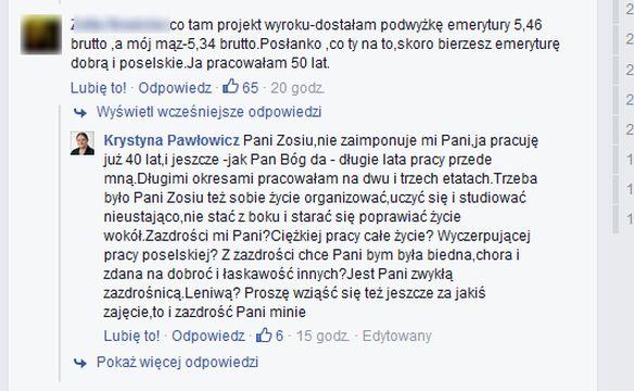 Wpis Krystyny Pawłowicz