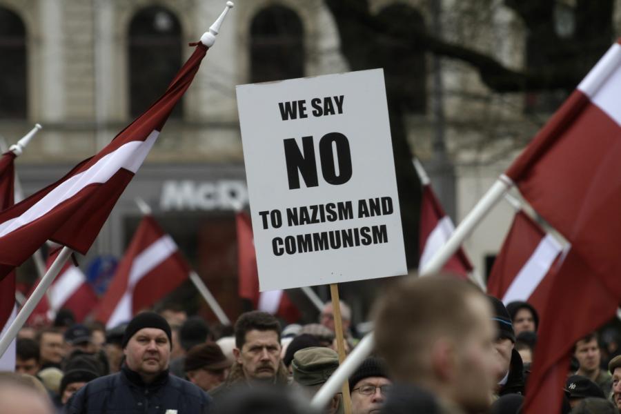 Marsz weteranów Waffen-SS w Rydze