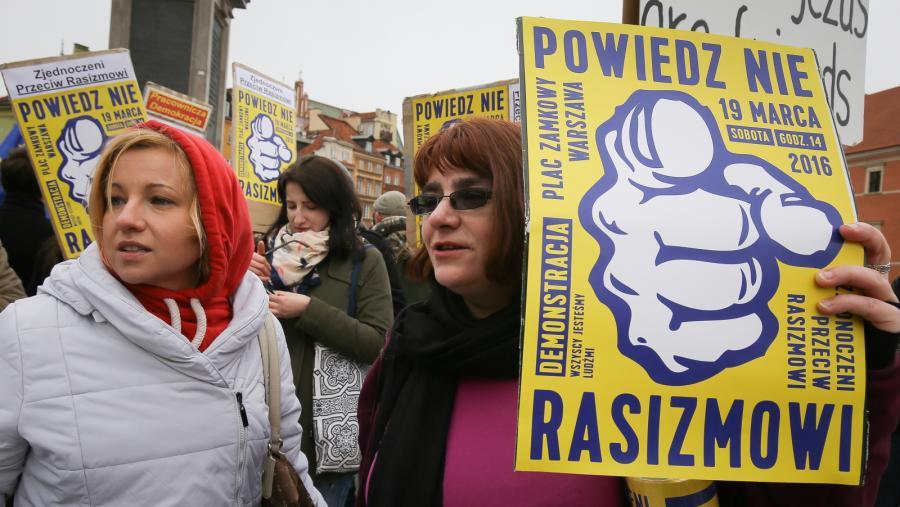 Warszawa demonstracja przeciwko rasizmowi