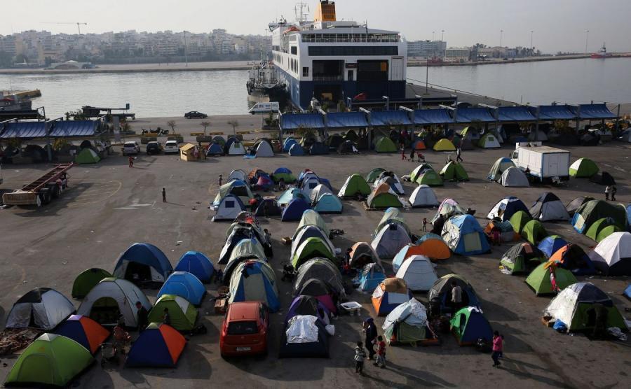 Namioty imigrantów