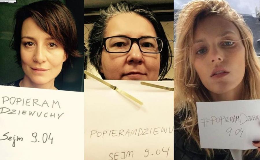 """Maja Ostaszewska, Kasia Adamik i Anja Rubik popierają akcję """"Dziewuchy dziewuchom"""""""