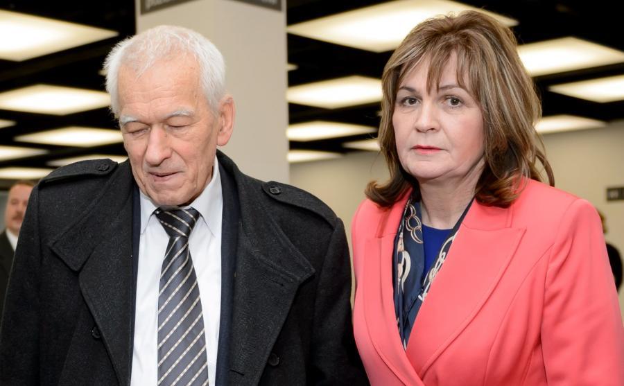 Marszałek senior Kornel Morawiecki i posłanka niezależna Małgorzata Zwiercan