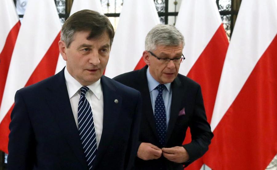 Marszałek Sejmu Marek Kuchciński i marszałek Senaru Stanisław Karczewski