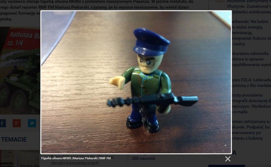 Oficer NKWD w zestawie klocków dla dzieci (źródło: www.rmf24.pl)