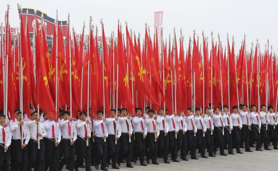 Parada na koniec zjazdu Partii Pracy Korei