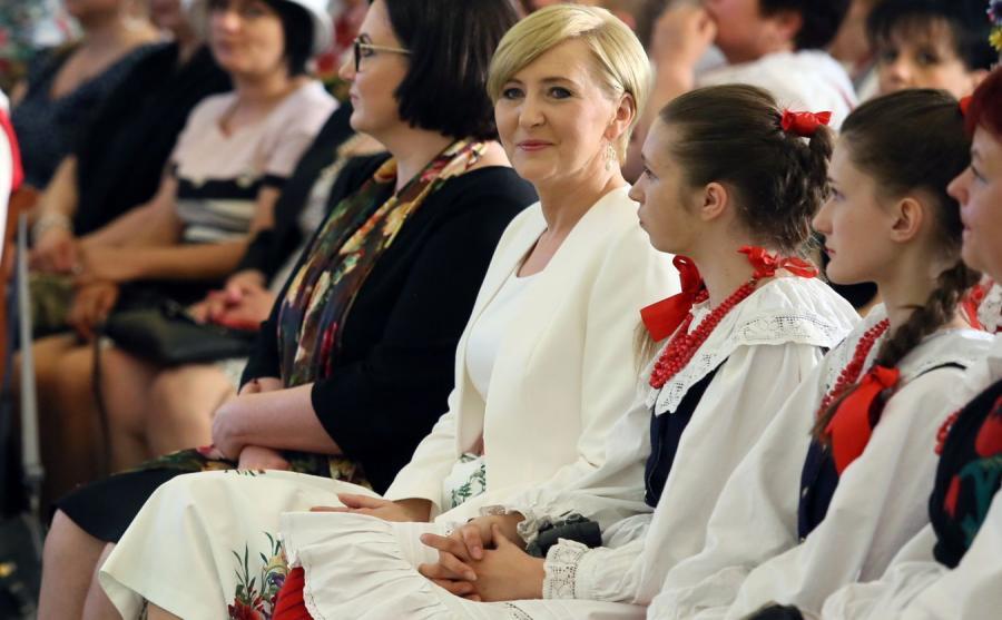 Agata Kornahuser-Duda i Koło Gospodyń Wiejskich