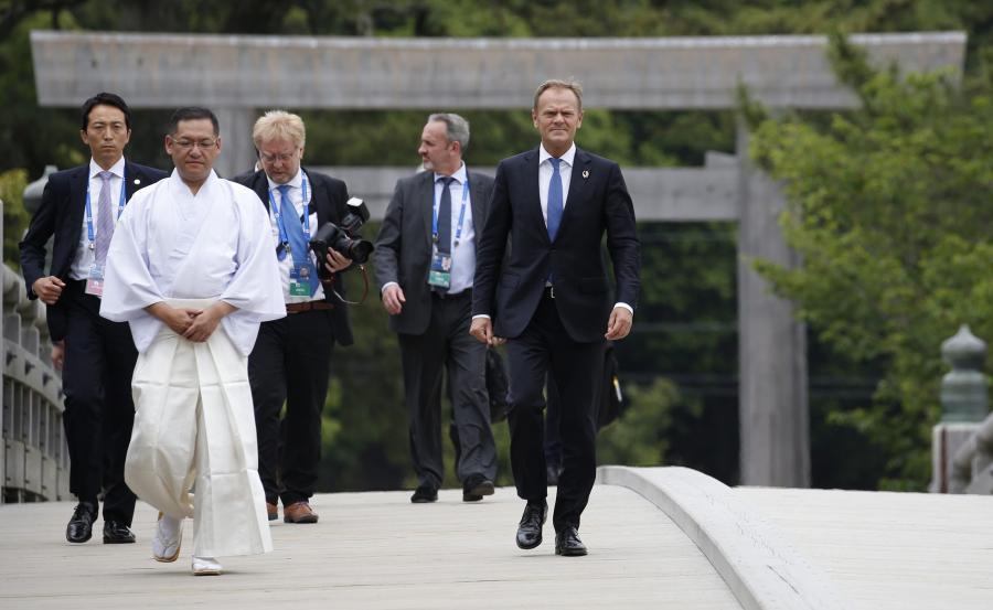 Donald Tusk przybył do Japonii na szczyt G7