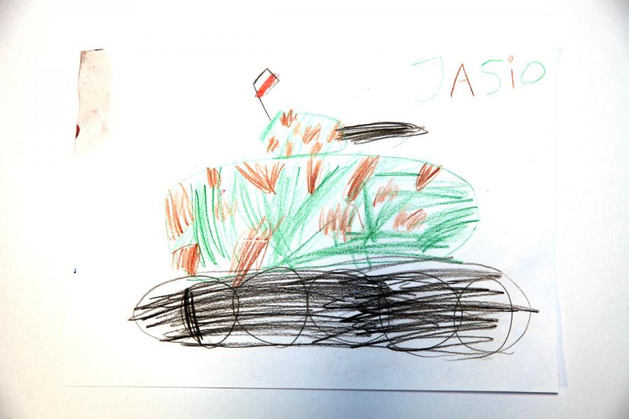Autor rysunku: Jaś Mandes, lat 6