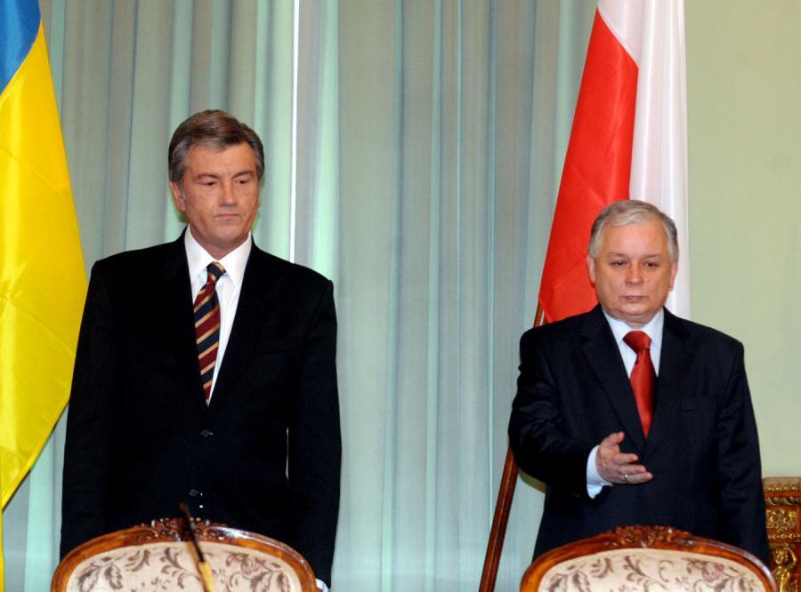 Kaczyński rozmawiał z Juszczenką o gazie