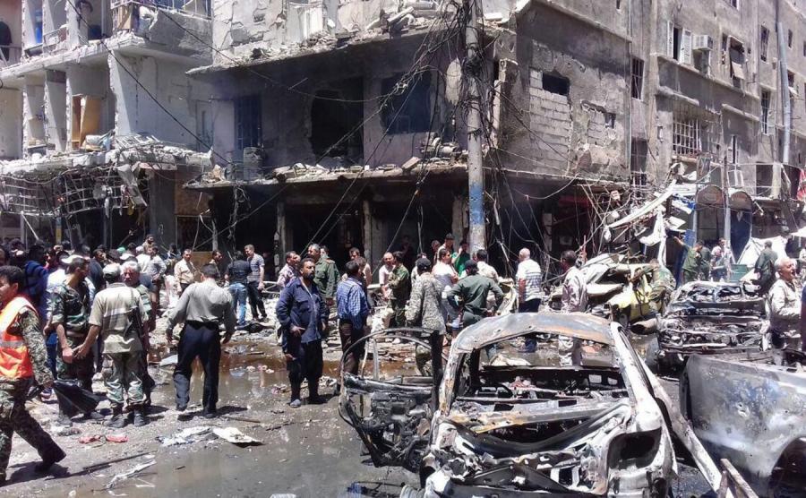 Zamach na przedmieściach Damaszku