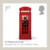 Na serii znaczków brytyjska poczta przechwala się osiągnięciami wyspiarskiego wzornictwa. Londyńska budka telefoniczna powstała w 1924 roku