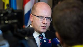 Premier Bohuslav Sobotka
