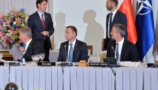 Prezydent Andrzej Duda i sekretarz generalny Sojuszu Północnoatlantyckiego Jens Stoltenberg