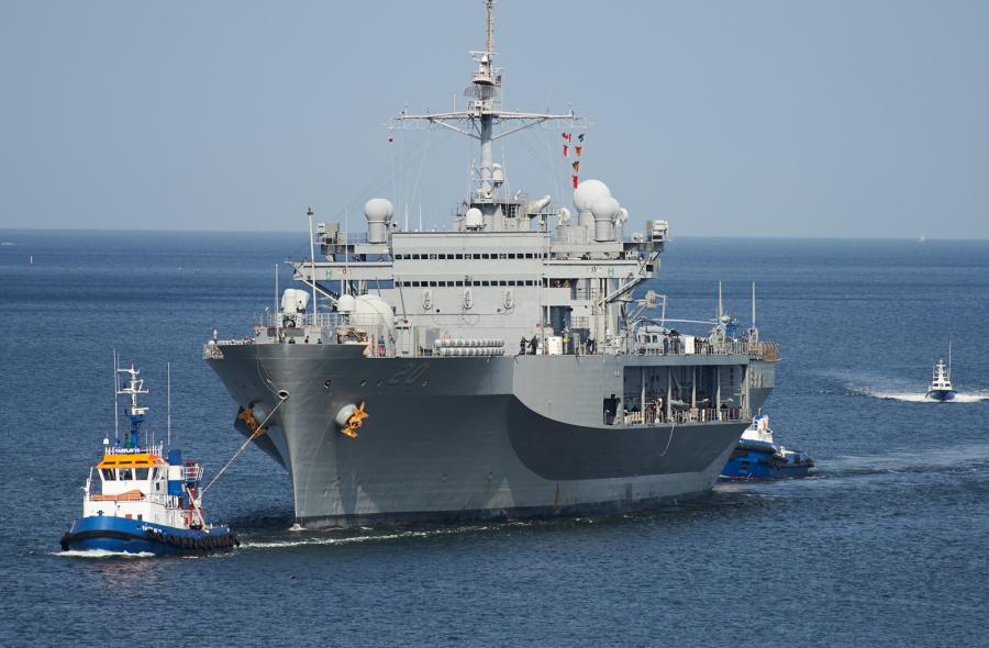 AMERYKAŃSKI OKRĘT USS MOUNT WHITNEY ZAWINĄŁ DO GDYNI