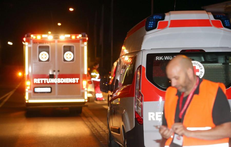 Służby medyczne na miejscu ataku
