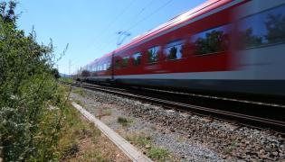 Pociąg regionalny w Niemczech