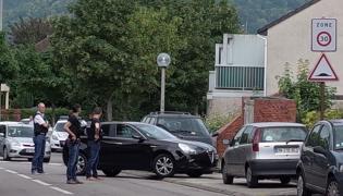 Atak na francuski kościół
