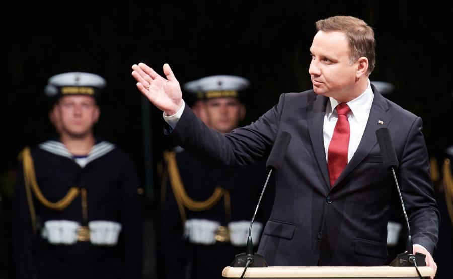 Prezydent Andrzej Duda na Westerplatte