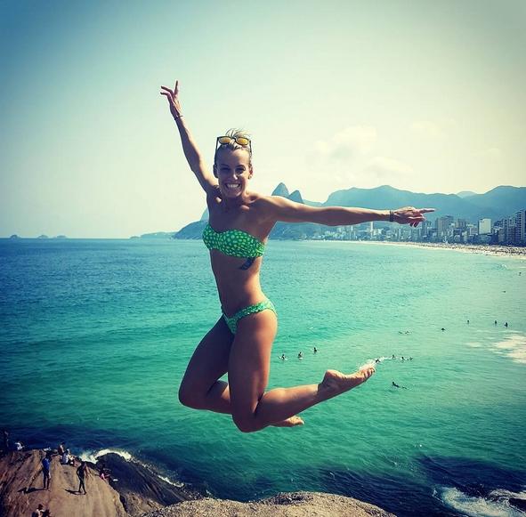Ona uwielbia wodę! Tak prezentuje się włoska medalistka olimpijska Tania Cagnotto