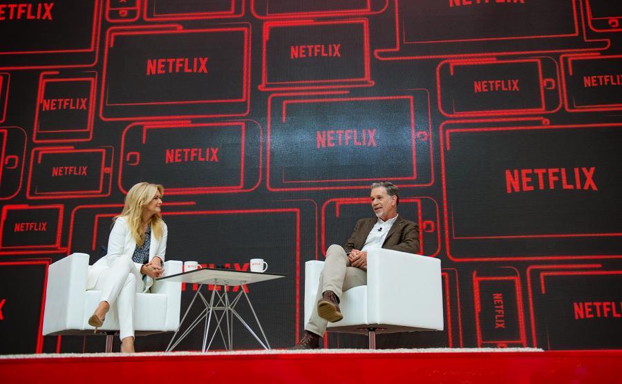 Konferencja prasowa z udziałem Reeda Hastingsa, współzałożyciela i dyrektora generalnego serwisu Netflix