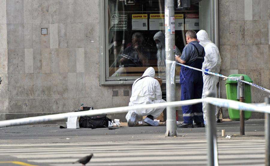 Eksperci na miejscu zamachu w Budapeszcie